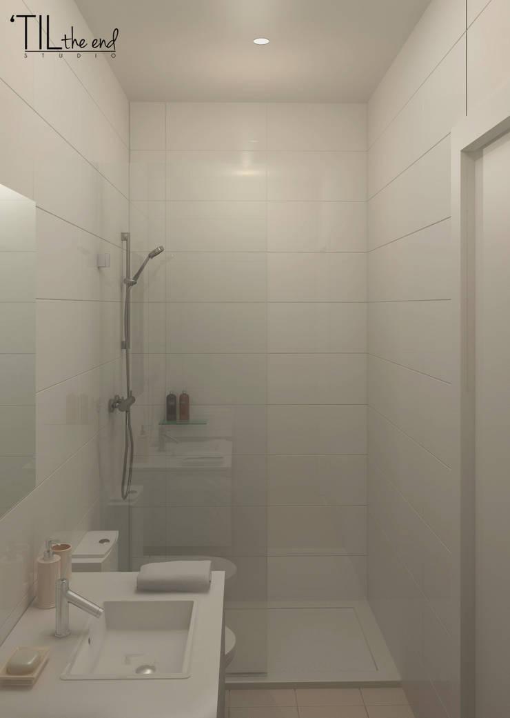 Apartment in Belém, Lisbon: Casas de banho  por Lagom studio
