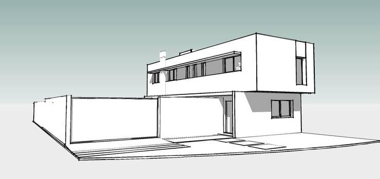 Vivienda DLB – Tejas 2 (proyecto y obra):  de estilo  por ANDA arquitectos,