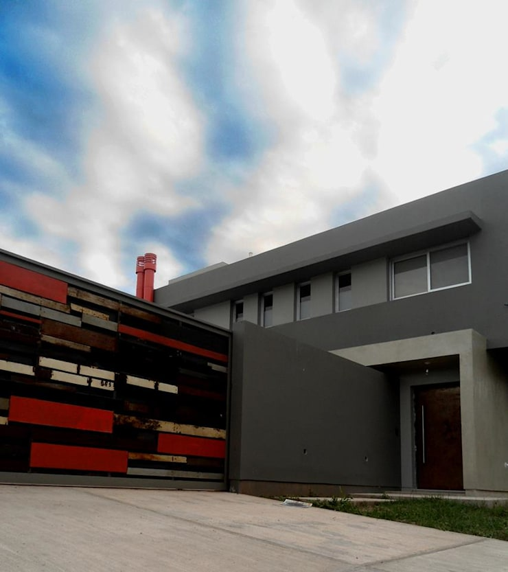 Vivienda DLB - Tejas 2 (proyecto y obra): Casas de estilo  por ANDA arquitectos,
