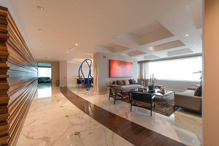 Departamento Altus : Salas de estilo  por Hansi Arquitectura