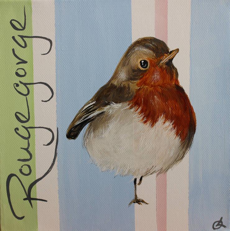 Rouge-Gorge par Odile Laresche Artiste Peintre Animalier Éclectique