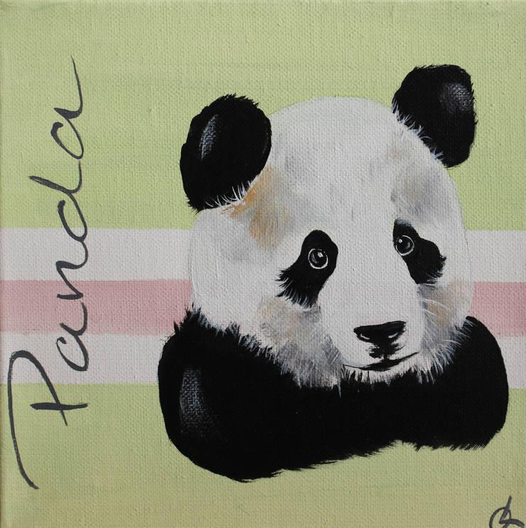 Petit Panda par Odile Laresche Artiste Peintre Animalier Éclectique