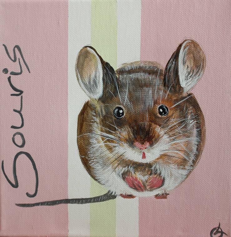 souris par Odile Laresche Artiste Peintre Animalier Éclectique