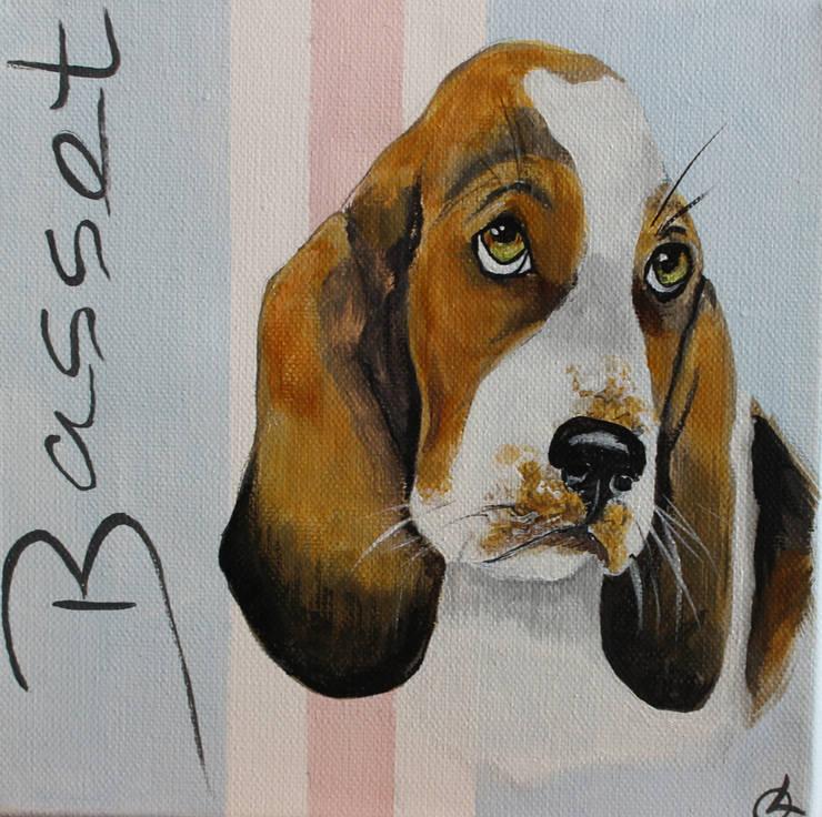 Basset par Odile Laresche Artiste Peintre Animalier Éclectique