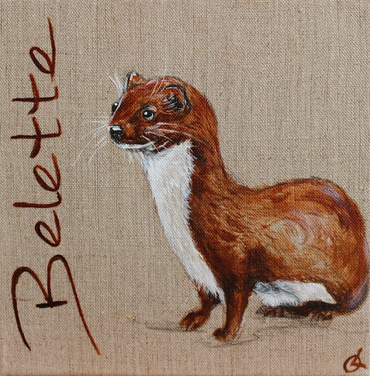 Belette par Odile Laresche Artiste Peintre Animalier Éclectique