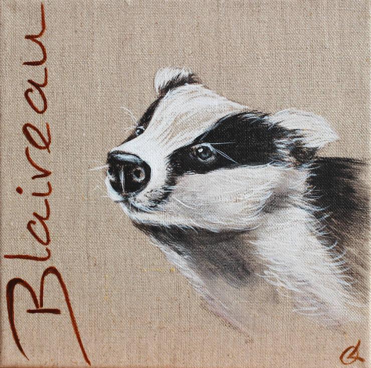 Blaireau par Odile Laresche Artiste Peintre Animalier Éclectique