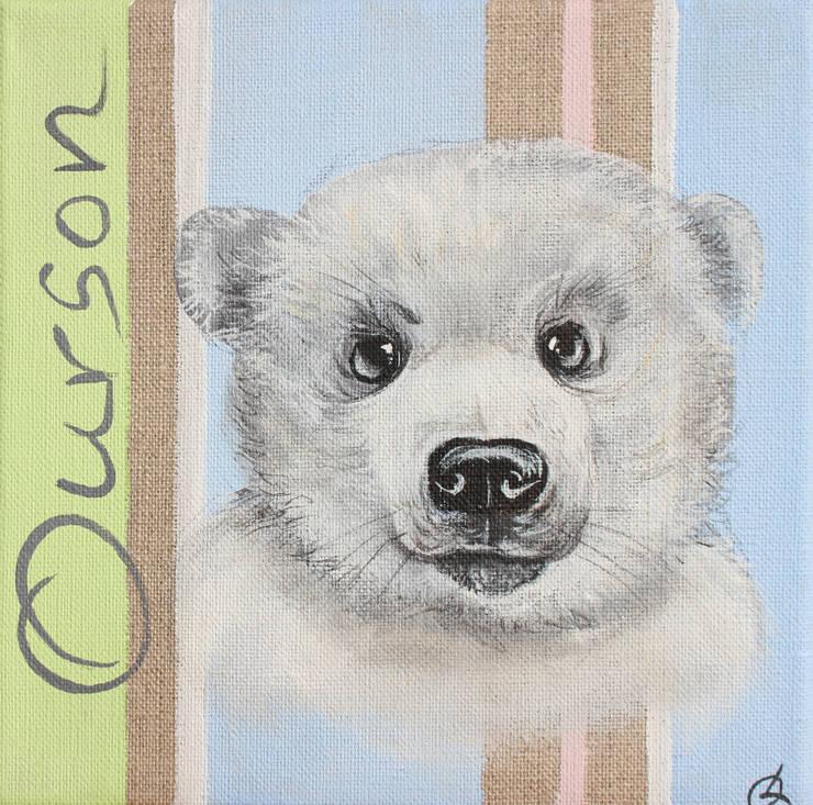 Ourson par Odile Laresche Artiste Peintre Animalier Éclectique