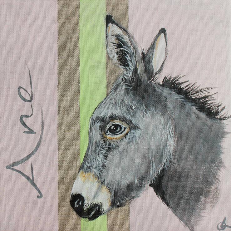 Petit Âne par Odile Laresche Artiste Peintre Animalier Éclectique