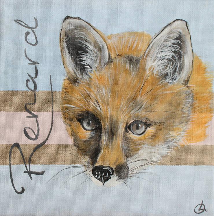 Renard par Odile Laresche Artiste Peintre Animalier Éclectique
