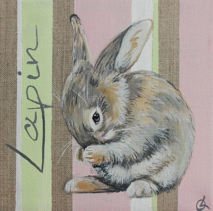 Lapin par Odile Laresche Artiste Peintre Animalier Éclectique