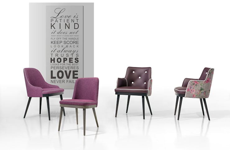 Kelly Collection:   por Fenabel-The heart of seating,Moderno Madeira Acabamento em madeira