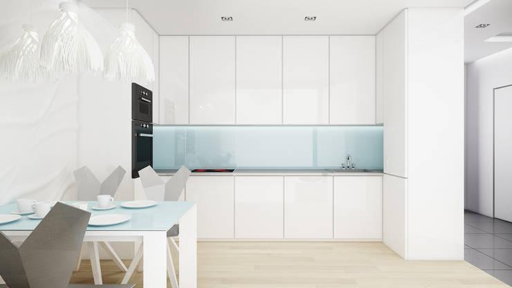 Mieszkanie, pow. 72 m2, Osiedle Pięciu Mostów, Gdańsk: styl , w kategorii Kuchnia zaprojektowany przez 3miasto design