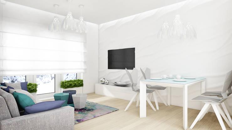 Mieszkanie, pow. 72 m2, Osiedle Pięciu Mostów, Gdańsk: styl , w kategorii Salon zaprojektowany przez 3miasto design