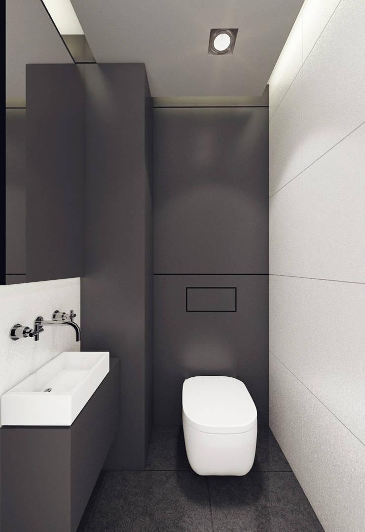 Mieszkanie, pow. 72 m2, Osiedle Pięciu Mostów, Gdańsk: styl , w kategorii Łazienka zaprojektowany przez 3miasto design