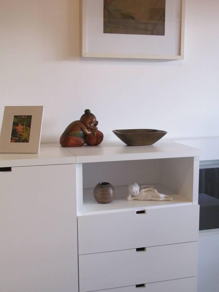 Módulo de guardado + cajones de MINBAI Minimalista Madera Acabado en madera