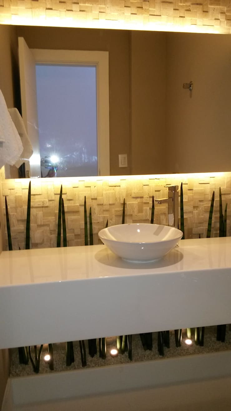 Lavabo: Banheiros  por L N arquitetos,