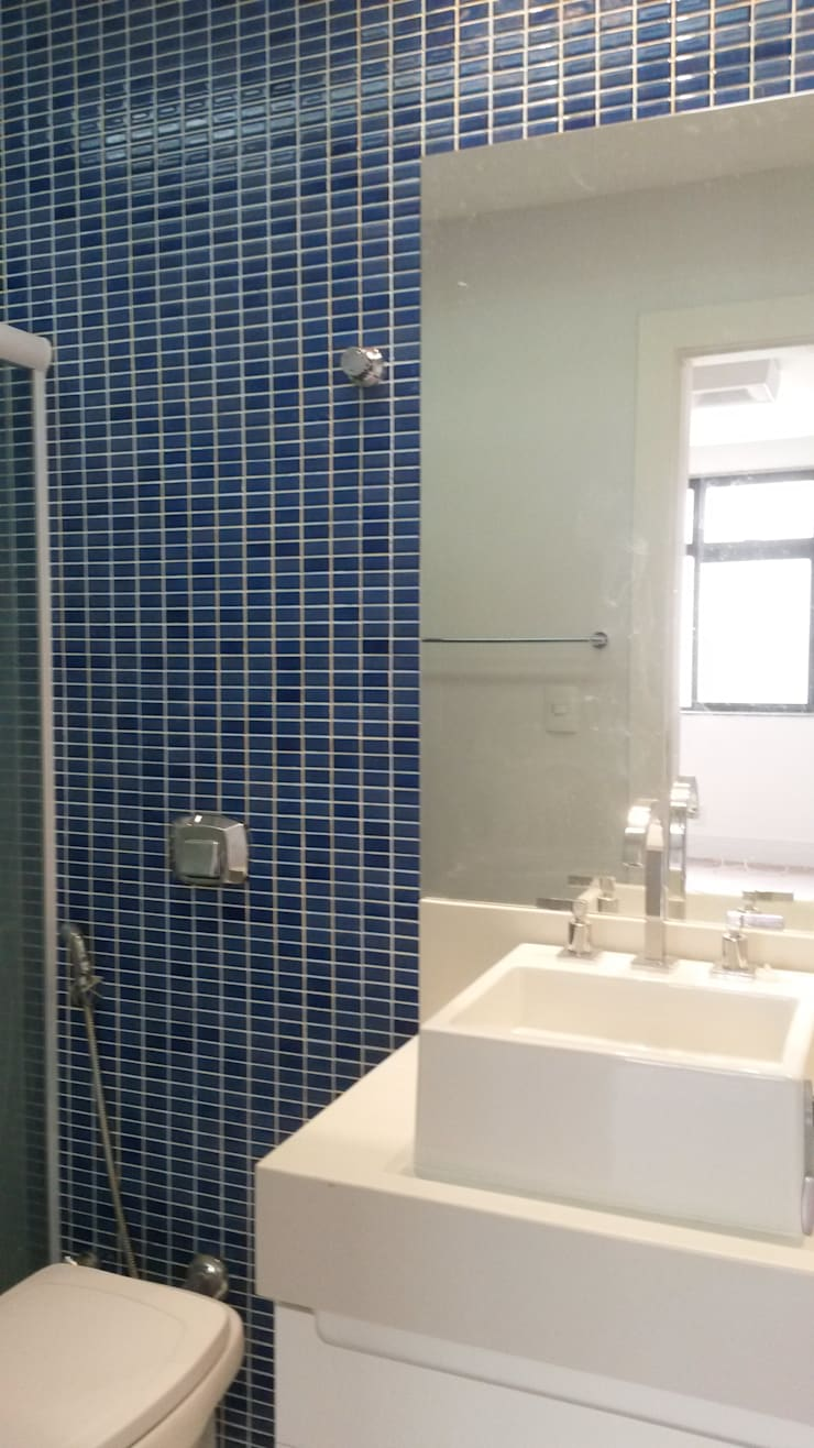 Banho menino: Banheiros  por L N arquitetos,