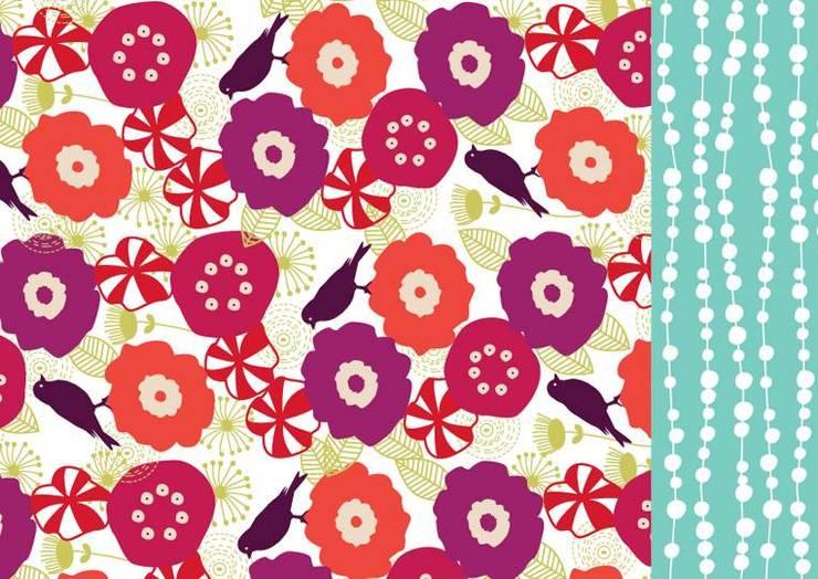Lona Violet bird: Hogar de estilo  por Luc*At diseños,