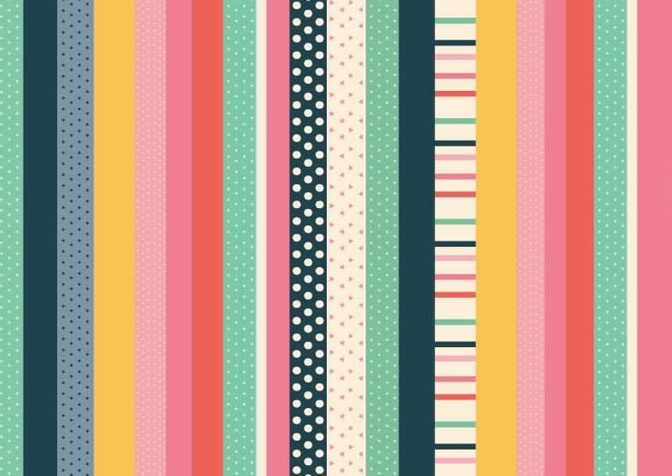 Lona Happy stripes: Hogar de estilo  por Luc*At diseños,
