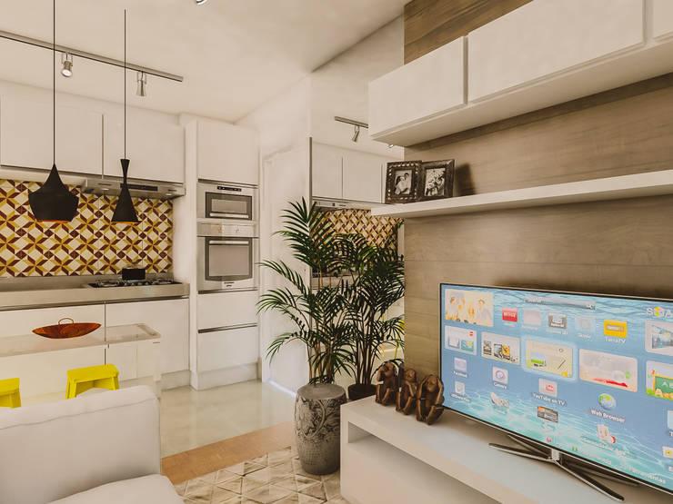 Sala: Salas de estar  por Studio M Arquitetura