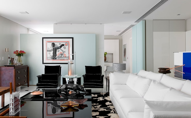 apartamento jardins: Salas de estar  por Toninho Noronha Arquitetura