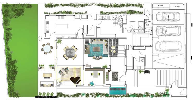 Plano planta baja:  de estilo  por MARIANGEL COGHLAN