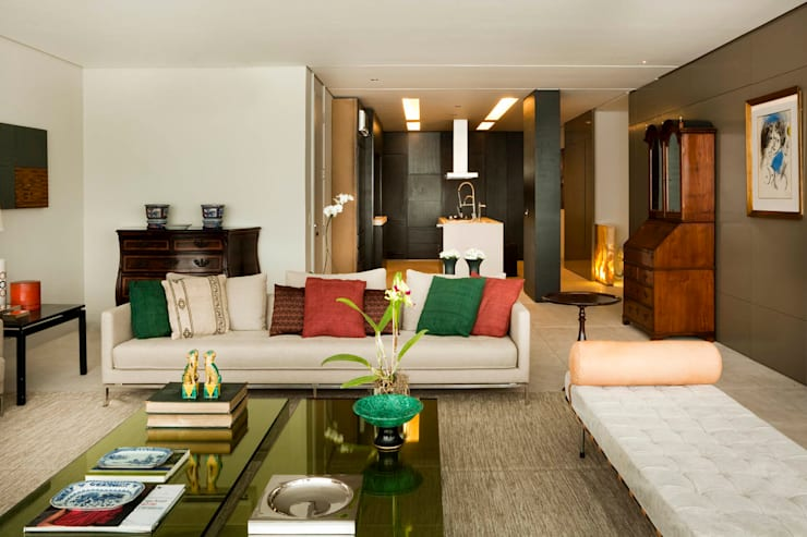 Apartamento Leblon: Salas de estar  por Toninho Noronha Arquitetura
