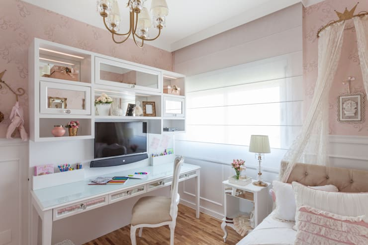 غرفة الأطفال تنفيذ Martins Valente Arquitetura e Interiores