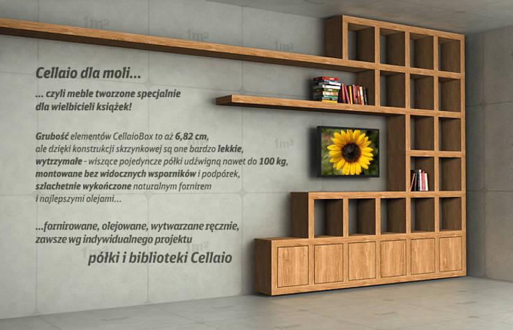 Cellaio - półki na książki: styl , w kategorii  zaprojektowany przez Cellaio,Nowoczesny