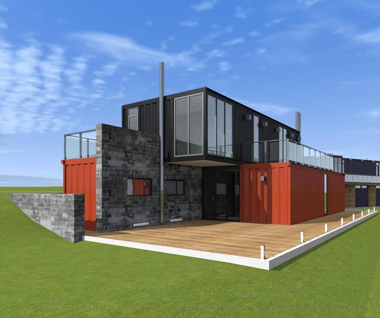 Дом из четырех морских 40ft-HC контейнеров - 2: Дома в . Автор – CHM architect
