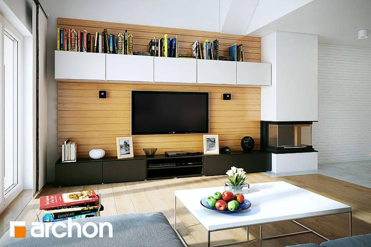 Projekt: Dom w nerinach: styl , w kategorii  zaprojektowany przez ARCHON+ PROJEKTY DOMÓW