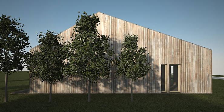DOM ADAMA: styl , w kategorii Domy zaprojektowany przez PROSTO architekci,Minimalistyczny Drewno O efekcie drewna