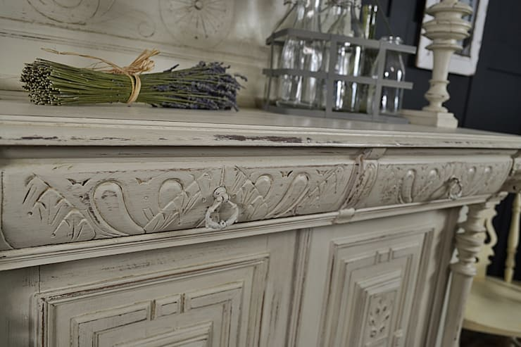 Shabby Chic Off White French Buffet Kitchen Dresser By The