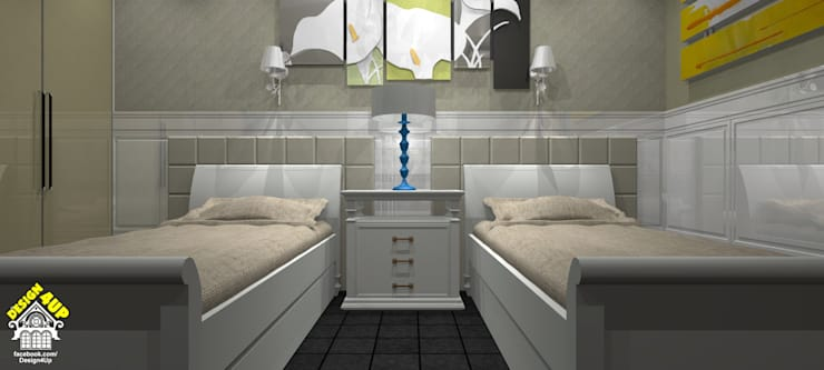 Dormitório Provençal – Campos do Jordão: Quartos  por Design4Up