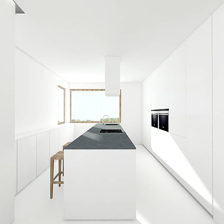 PURE - kuchnia: styl , w kategorii Kuchnia zaprojektowany przez PROSTO architekci,Minimalistyczny