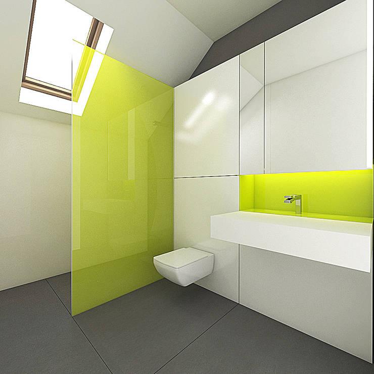 PURE - łazienka: styl , w kategorii Łazienka zaprojektowany przez PROSTO architekci,Minimalistyczny