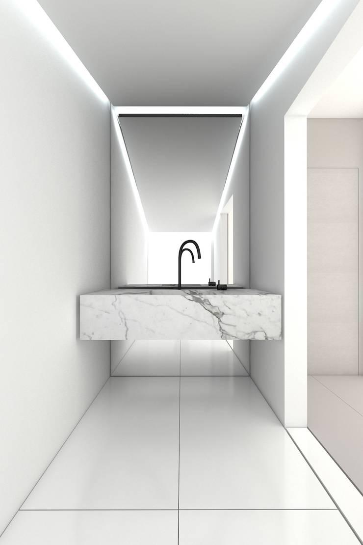 PURE - toaleta: styl , w kategorii Łazienka zaprojektowany przez PROSTO architekci,Minimalistyczny
