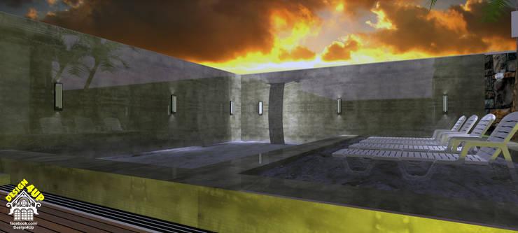Fachada de Casa – Terras do Vale, Caçapava: Piscinas modernas por Design4Up