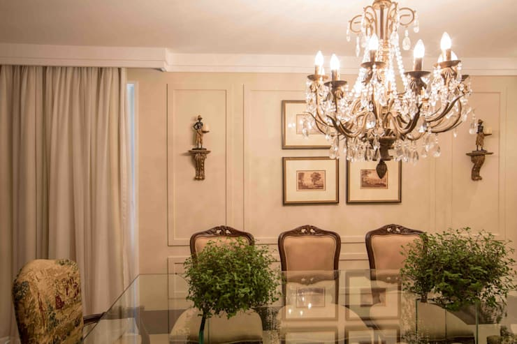 Sala de Jantar: Salas de jantar clássicas por Piloni Arquitetura