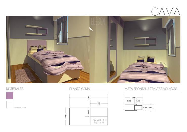 Ante-Proyecto: Dormitorios de estilo  por Estudio BDesign,