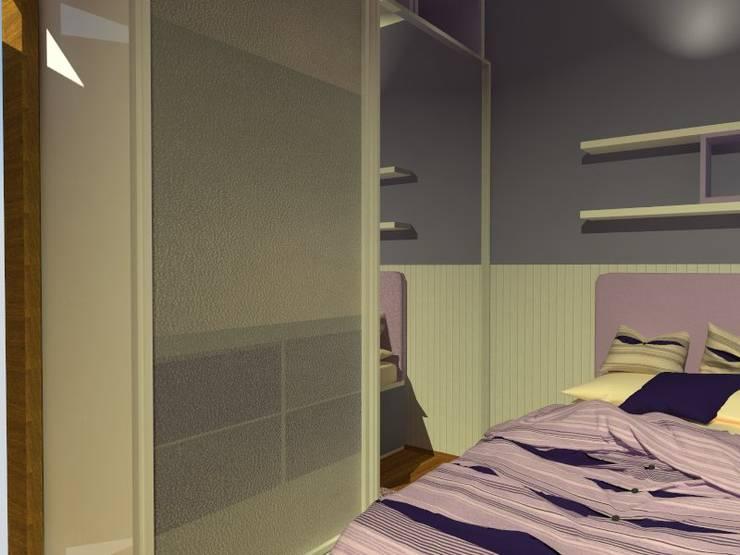 maqueta digital: Dormitorios de estilo  por Estudio BDesign,