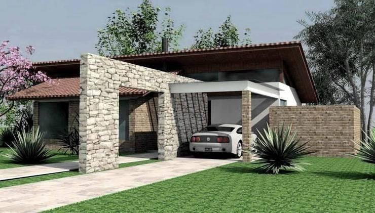 Casa de Campo! : Casas ecléticas por Habita Arquitetura