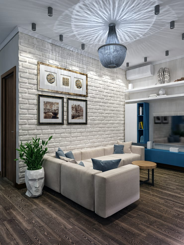 Phòng khách theo Мастерская дизайна ЭГО, Chiết trung