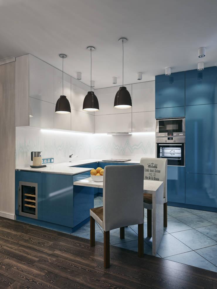 廚房 by Мастерская дизайна ЭГО, 隨意取材風