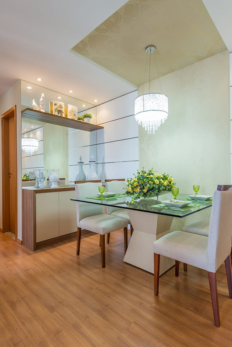 Comedores de estilo  por Eveline Maciel - Arquitetura e Interiores, Moderno