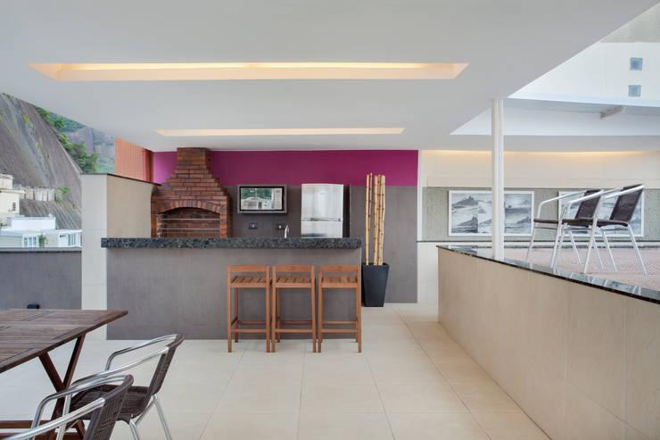 Terraço Urca – RJ: Terraços  por DG Arquitetura + Design,