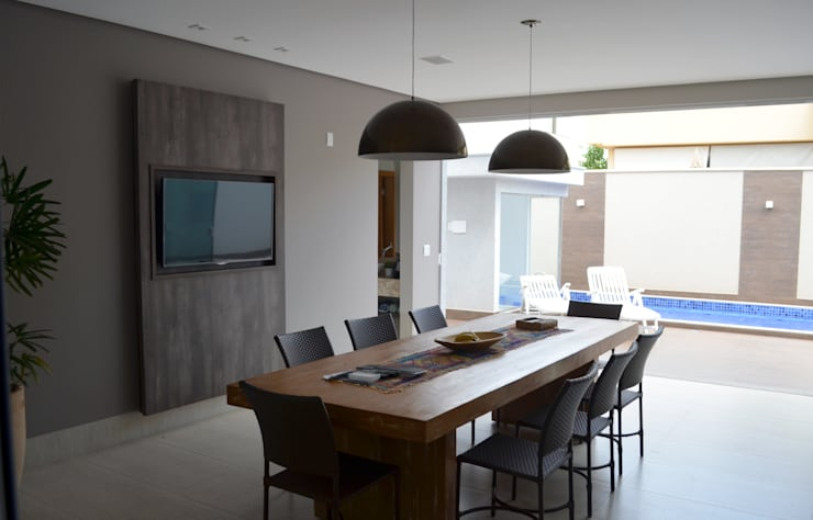 Casa Luciano: Terraços  por Lanzarq Arquitetura e Urbanismo,Moderno