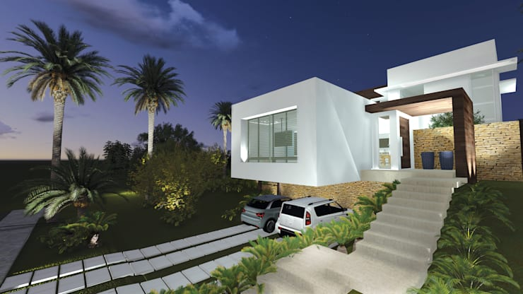 Casa DE: Casas modernas por Renata Matos Arquitetura & Business