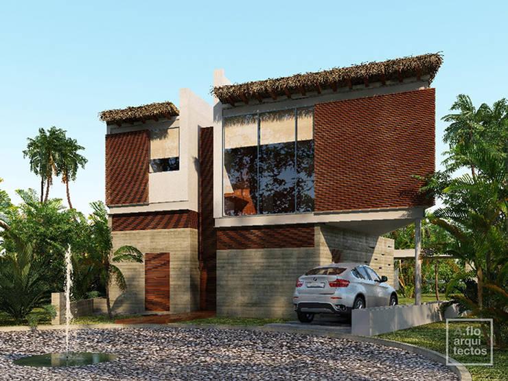 Punta Caracol : Casas de estilo  por A.flo Arquitectos