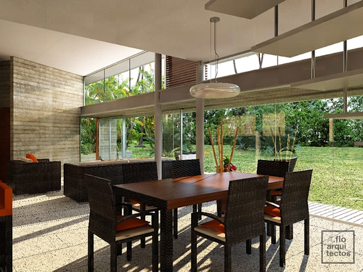 Punta Caracol : Comedores de estilo  por A.flo Arquitectos
